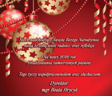 Życzenia Bożonarodzeniowe.